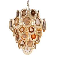 Corbett Lighting Rock Star 10 Light Dining Pendant in Gold Leaf 190-410