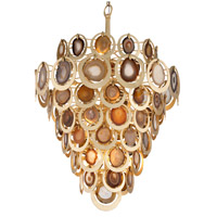 Rock Star 16 Light 33 inch Gold Leaf Pendant Ceiling Light