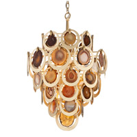 Rock Star 6 Light 19 inch Gold Leaf Pendant Ceiling Light