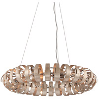 Recoil 12 Light 36 inch Textured Silver Leaf Pendant Ceiling Light