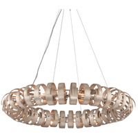 Corbett Lighting Recoil 14 Light Pendant in Textured Silver Leaf 191-415