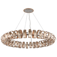 Recoil 18 Light 60 inch Textured Silver Leaf Pendant Ceiling Light