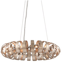 Corbett Lighting 191-48 Recoil 8 Light 29 inch Textured Silver Leaf Pendant Ceiling Light