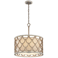 Corbett Lighting Koi 5 Light Pendant in Bronze Leaf 195-45