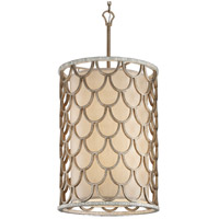 Corbett Lighting Koi 8 Light Pendant in Bronze Leaf 195-48