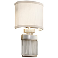Small Talk 2 Light 7 inch Silver Leaf Wall Sconce Wall Light