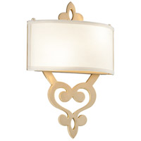 Corbett Lighting Olivia 2 Light Wall Sconce in Satin and Polished Brass 201-12