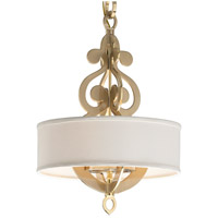 Corbett Lighting Olivia 4 Light Pendant in Satin and Polished Brass 201-44