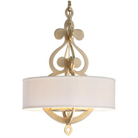 Corbett Lighting Olivia 8 Light Pendant in Satin and Polished Brass 201-48