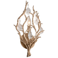Enchanted LED 9 inch Enchanted Silver Leaf Wall Sconce Wall Light