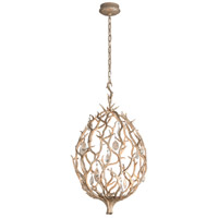 Enchanted LED 18 inch Enchanted Silver Leaf Pendant Ceiling Light