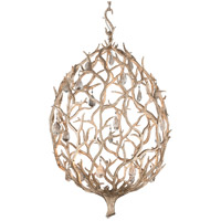 Enchanted LED 26 inch Enchanted Silver Leaf Pendant Ceiling Light