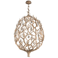 Enchanted LED 32 inch Enchanted Silver Leaf Pendant Ceiling Light