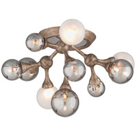Element 11 Light 23 inch Vienna Bronze Semi-Flush Ceiling Light