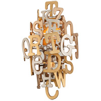Media 2 Light 11 inch Polished Stainless and Multi-Leaf Wall Sconce Wall Light