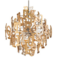 Corbett Lighting Media 16 Light Pendant in Polished Stainless and Multi-Leaf 208-412