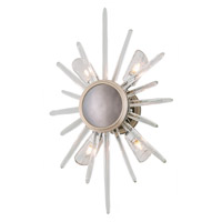 Chill 4 Light 14 inch Silver Leaf and Polished Stainless Wall Sconce Wall Light