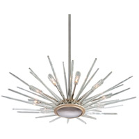 Chill 12 Light 60 inch Silver Leaf and Polished Stainless Pendant Ceiling Light