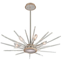 Chill 6 Light 36 inch Silver Leaf and Polished Stainless Pendant Ceiling Light