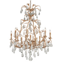 Vivaldi 13 Light 41 inch Venetian Leaf Chandelier Ceiling Light