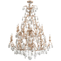 Vivaldi 22 Light 55 inch Venetian Leaf Chandelier Ceiling Light