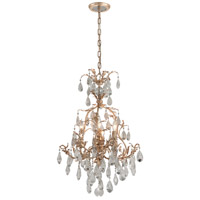Vivaldi 4 Light 20 inch Venetian Leaf Chandelier Ceiling Light
