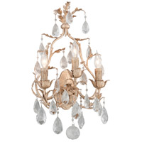 Vivaldi 3 Light 14 inch Venetian Leaf Wall Sconce Wall Light