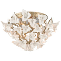 Corbett Lighting Lily 4 Light Flush Mount in Enchanted Silver Leaf 211-34