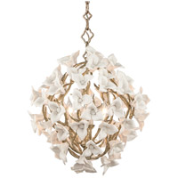 Lily 4 Light 19 inch Enchanted Silver Leaf Pendant Ceiling Light