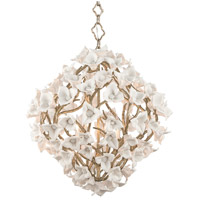 Lily 6 Light 26 inch Enchanted Silver Leaf Pendant Ceiling Light
