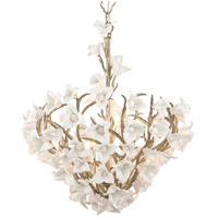 Lily 6 Light 26 inch Enchanted Silver Leaf Dining Pendant Ceiling Light