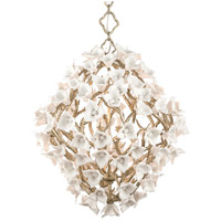 Lily 8 Light 32 inch Enchanted Silver Leaf Pendant Ceiling Light