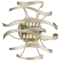 Corbett Lighting 213-12 Calligraphy LED 12 inch Silver Leaf and Polished Stainless Wall Sconce Wall Light