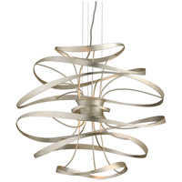Corbett Lighting 213-42 Calligraphy LED 26 inch Silver Leaf and Polished Stainless Pendant Ceiling Light photo thumbnail