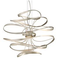Corbett Lighting 213-43 Calligraphy LED 34 inch Silver Leaf and Polished Stainless Pendant Ceiling Light