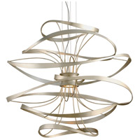 Corbett Lighting 213-44 Calligraphy LED 42 inch Silver Leaf and Polished Stainless Pendant Ceiling Light