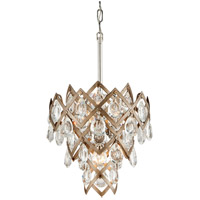 Corbett Lighting Tiara 3-Light Pendant - Vienna Bronze Finish with Clear Crystal Drops 214-44