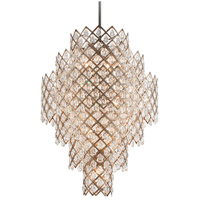 Corbett Lighting Tiara 17-Light Pendant - Vienna Bronze Finish with Clear Crystal Drops 214-717