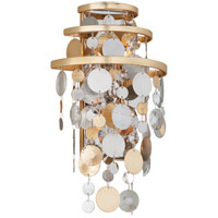 Corbett Lighting 215-12 Ambrosia 10 inch Gold and Silver Leaf Wall Sconce Wall Light