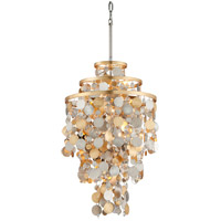 Ambrosia 18 inch Gold and Silver Leaf Pendant Ceiling Light