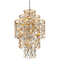 Ambrosia 24 inch Gold and Silver Leaf Pendant Ceiling Light