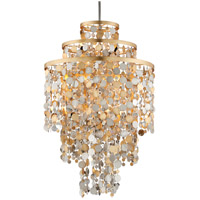 Ambrosia 32 inch Gold and Silver Leaf Pendant Ceiling Light
