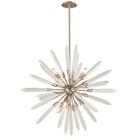Corbett Lighting Altitude Pendant - 39 inch - Modern Silver Leaf Finish with Bone China Shades 217-46