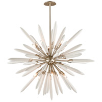 Corbett Lighting Altitude Pendant - 54 inch - Modern Silver Leaf Finish with Bone China Shades 217-710