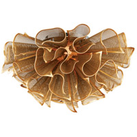 Pulse LED 23 inch Gold Leaf Semi-Flush Mount Ceiling Light