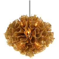 Pulse 12 Light 30 inch Gold Leaf Pendant Ceiling Light