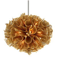 Pulse 16 Light 37 inch Gold Leaf Pendant Ceiling Light