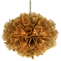 Pulse 20 Light 45 inch Gold Leaf Pendant Ceiling Light