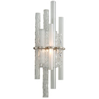 Corbett Lighting 219-11 Manhattan LED 9 inch Satin Silver Leaf Wall Sconce Wall Light
