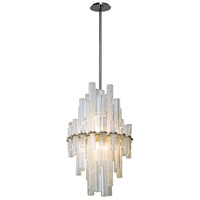 Manhattan LED 18 inch Satin Silver Leaf Pendant Ceiling Light
